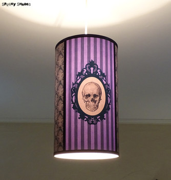 NEW! Baroque Skull purple hanging lamp shade