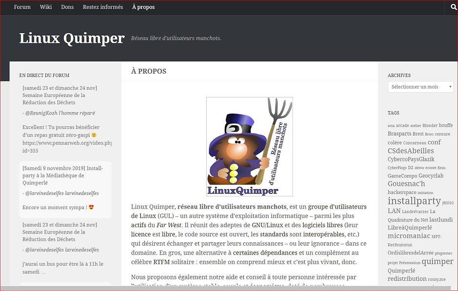 linuxquimper capture ecran.JPG