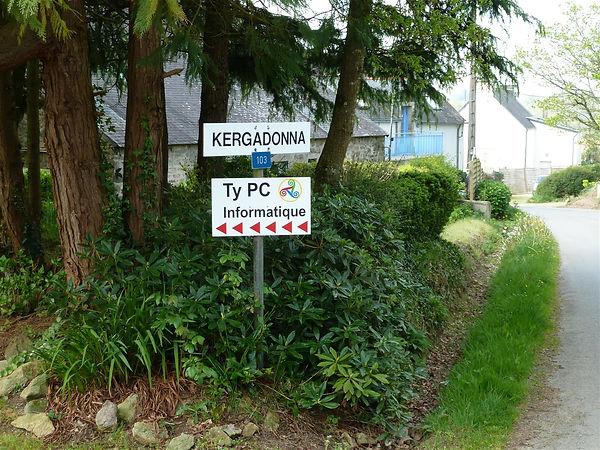 Entrée Ty PC Kergadonna Quimper France