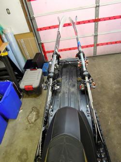 """Skis mounted 2012 Ski-Doo 154"""""""