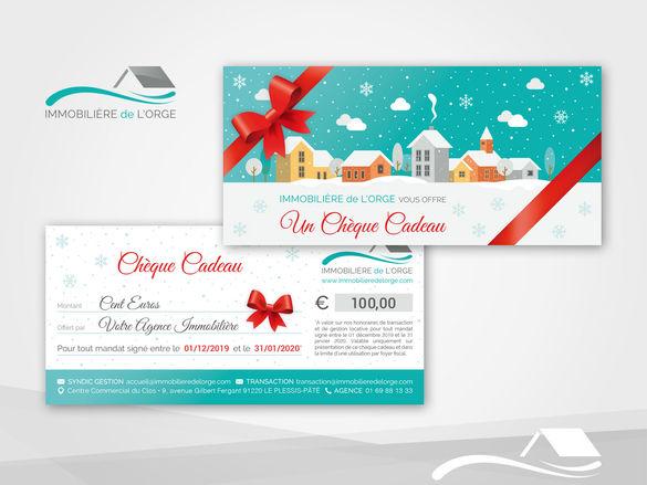 Chèque Cadeau pour une Agence Immobilière