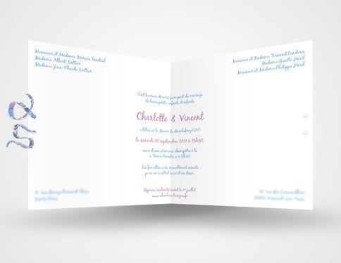 Faire-Part de Mariage C&V