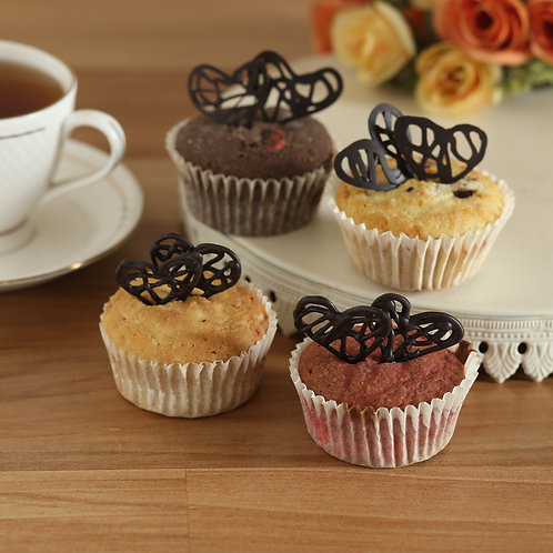 FITmuffins with Heart Chocolate