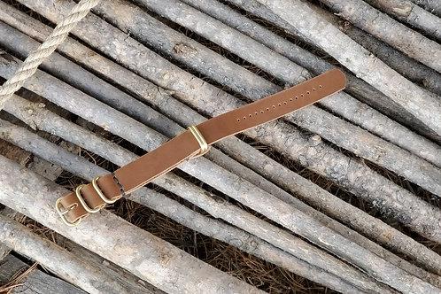 Zulu Watch Strap 20mm (natural brass)