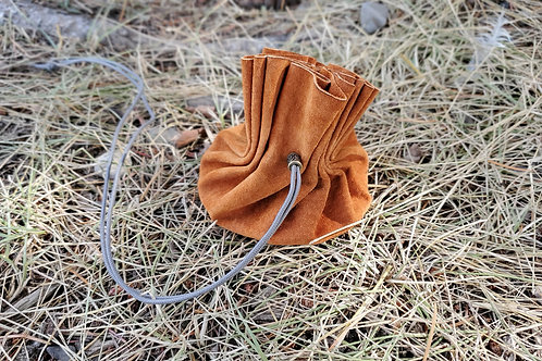 Small Suede tinder bag/casting cloth