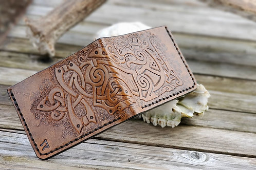 Tooled Leather Bifold Wallet