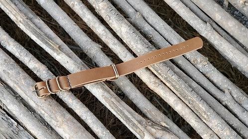 Zulu Watch Strap 20mm (antique brass)