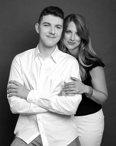 portrait- family-black and white-new york