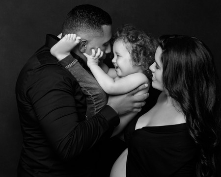 family-portrai-photoshoot-black and white-new york