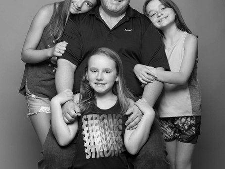 Father and daughters shoot