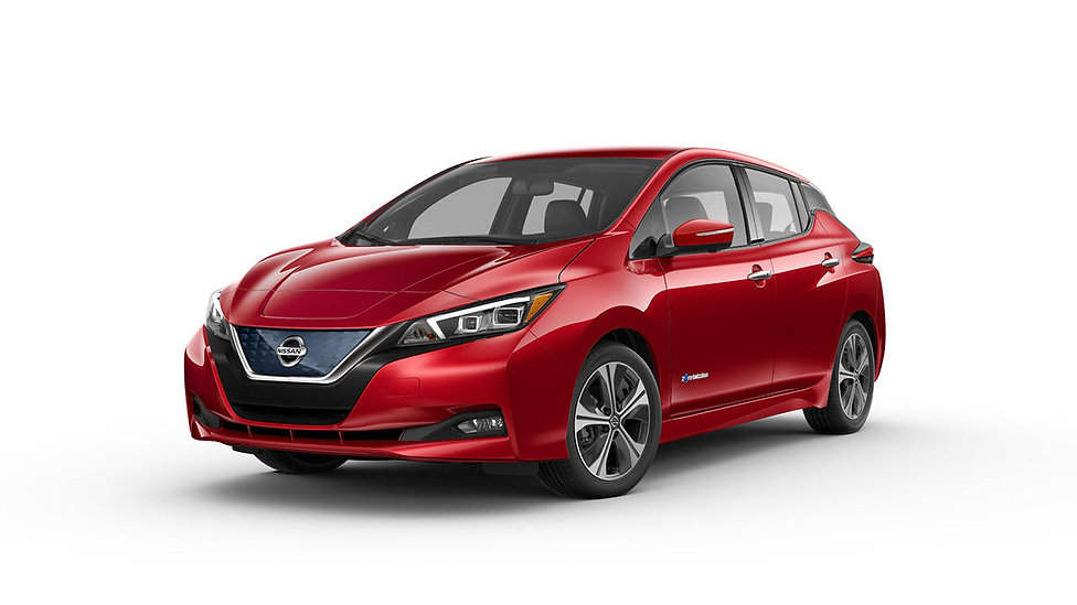 2018-nissan-leaf-red-color-white-backgro