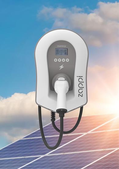 Myenergi zappi solar connected EV chargi