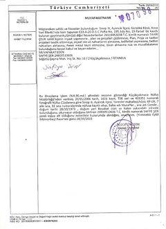 Turkish Translationof Letter of Consents