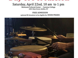 PAS WNY Day of Percussion, Saturday April 22nd