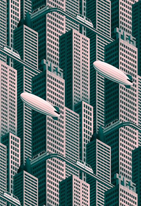 Megatropolis, repeating pattern