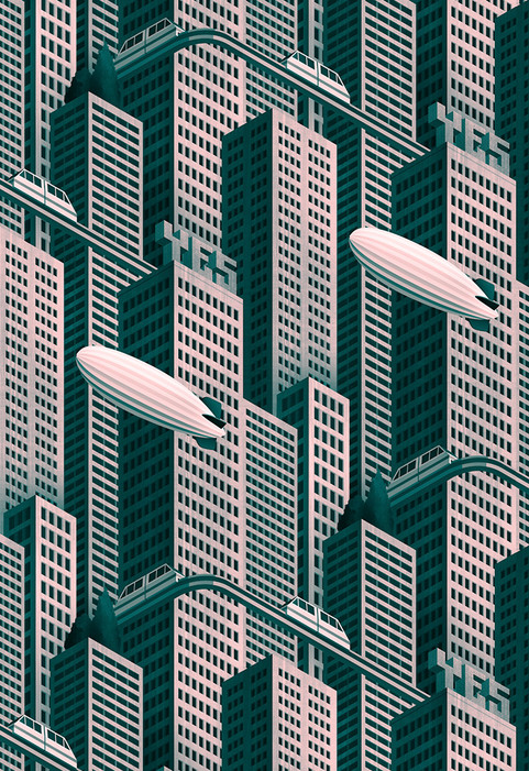Megatropolis, repeating pattern