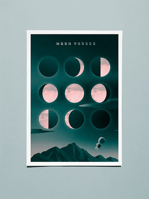 Moon Phases, A2 giclee print