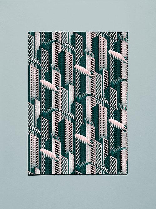 Megatropolis, A2 giclee print