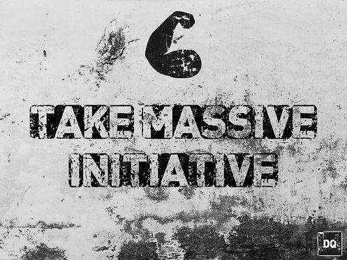 Take Massive Initiative 18x24 Canvas Print
