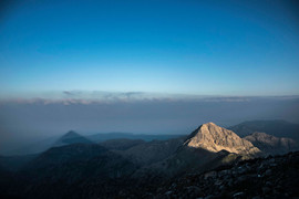 Taygetus peak at 2407m and the phenomenon of the pyramid..