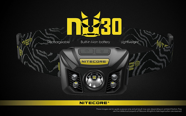 LED NITECORE HEADLAMP NU30, Black