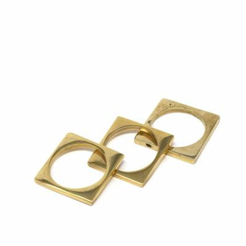 Brass Squared Stack Ring