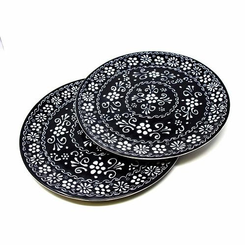 Encantada (Set of 2) Plates - Ink