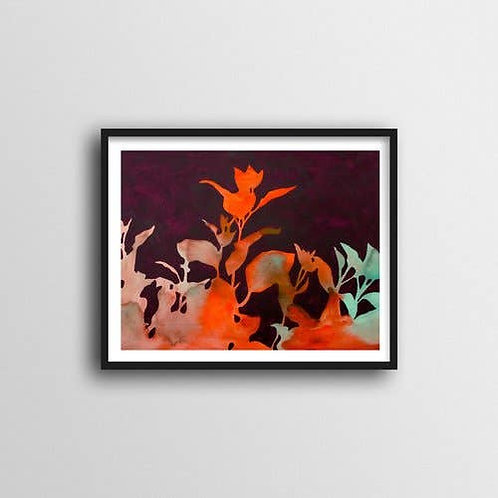 Smoke Bush Art Print