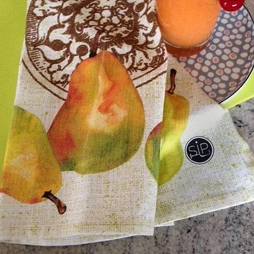 Ode to Three Pears Dish Towel