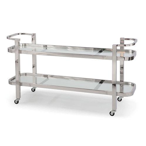 Athena Bar Cart - Nickel