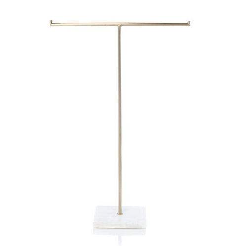 Brass & Marble Jewelry T-Stand - Med