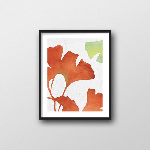 Ginkgo Leaves Art Print