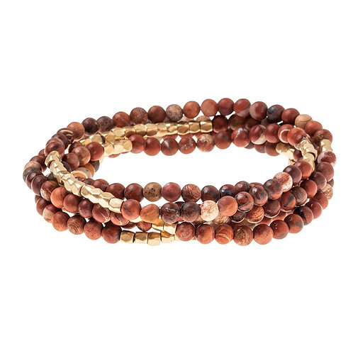 Red Jasper - Wrap Bracelet/Necklace