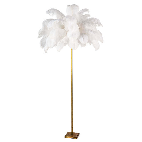 Ostrich Feather Floor Lamp