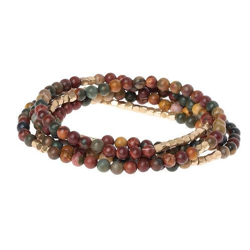 Stone of Serenity - Wrap Bracelet/Necklace