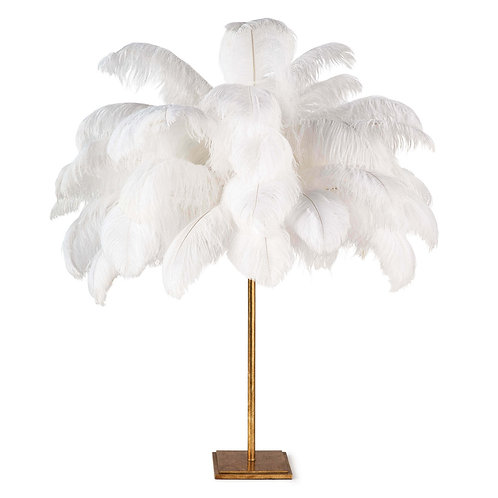 Ostrich Feather  Table Lamp