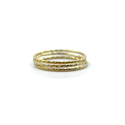 Sparkly Stack Ring
