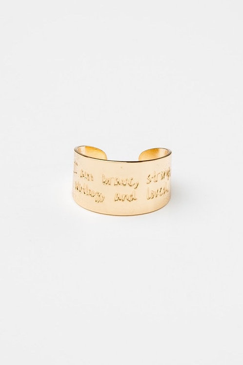 I Am Brave, Strong, Worthy & Loved Ring