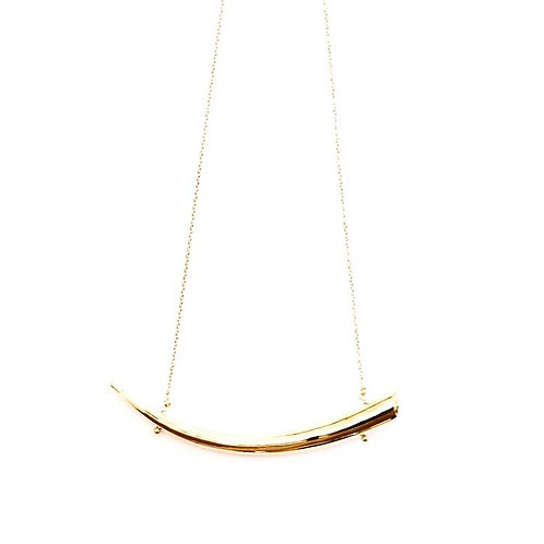 Gold Tusk Necklace
