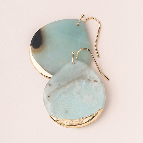 Amazonite/Gold-Dipped Teardrop