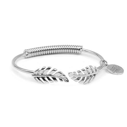 Goddess Leaf Bracelet - Silver