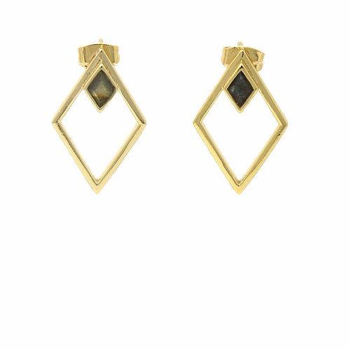 Double Diamond Earring