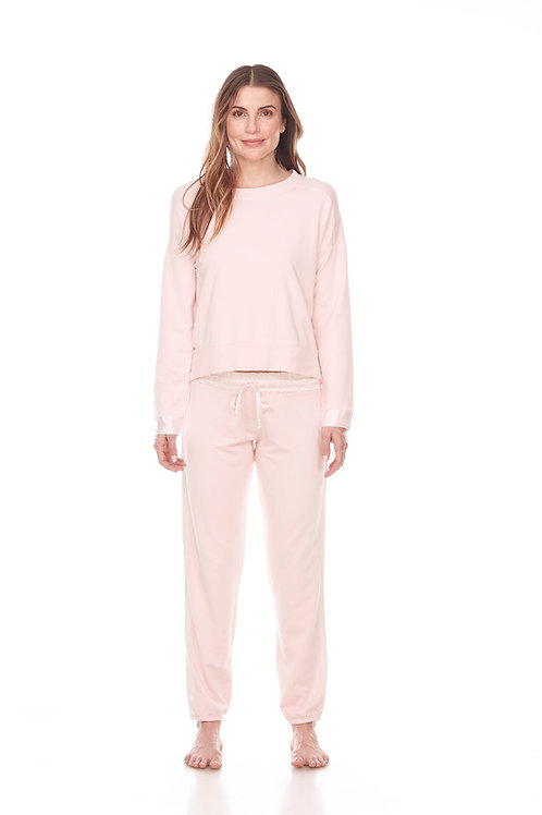 Luxury Loungewear Sweatshirt - In Eggnog (not pink)