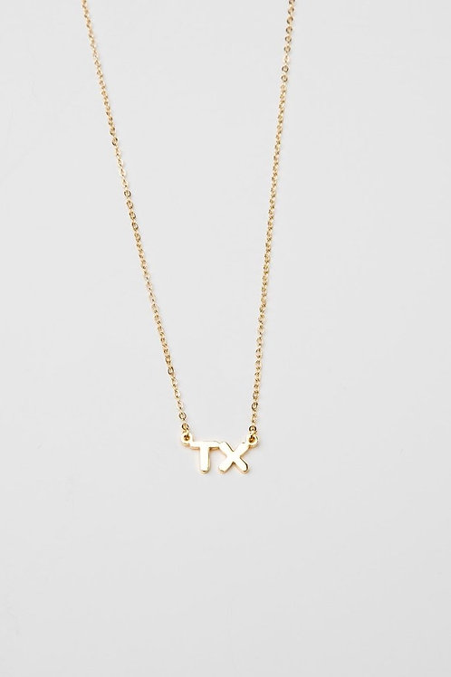 TX Initial Necklace