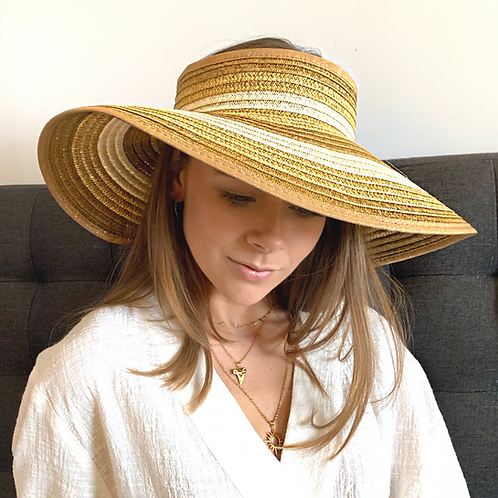 Striped Roll-Up Sun Hat