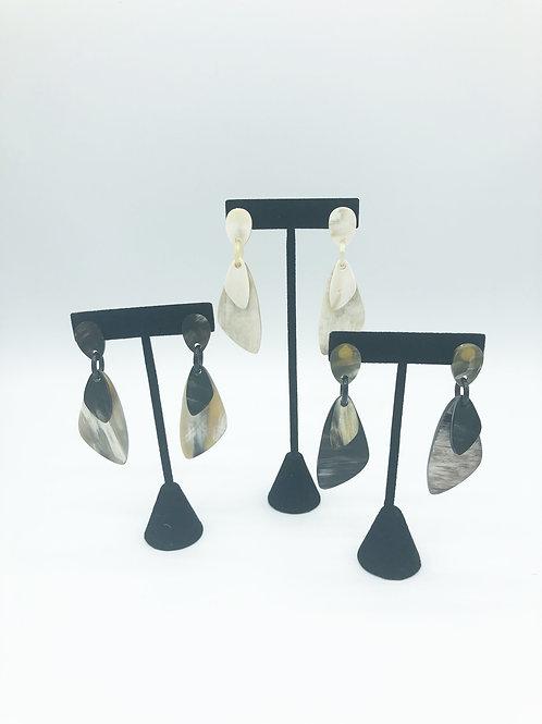 Tri-Dangle Horn Earring