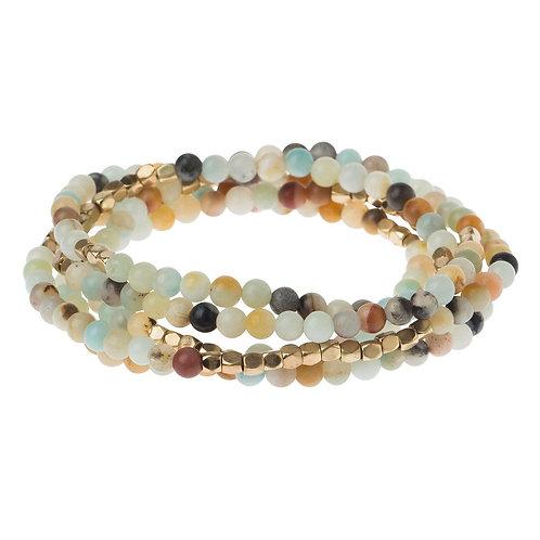 Amozonite Stone - Wrap Bracelet/Necklace