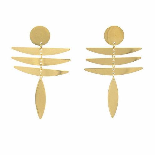 18K Gold Plated - Fringe Dangle