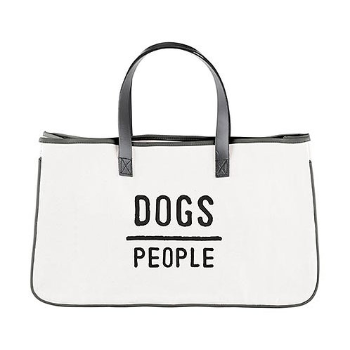 Canvas Tote - Dogs Over Ppl