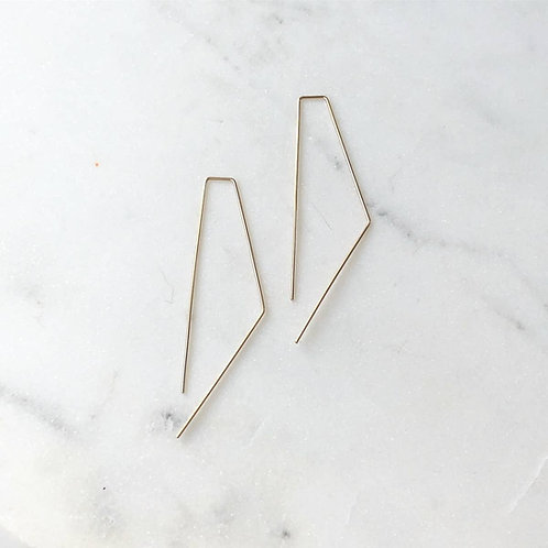 Bent Slide Earring